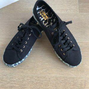 Keds Kickstart Canvas Leopard Foxing Shoes Sz 8.5